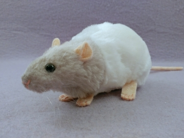 Light Grey Bareback Rat Plushie