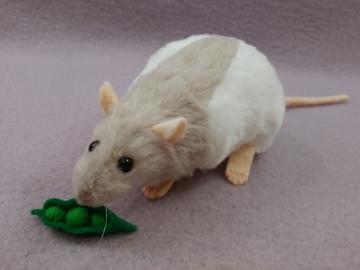 Light Grey Half-Hooded Rat Plushie