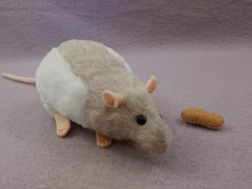 Light Grey Hooded Rat Plushie