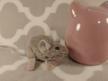Lilac Grey Mouse Plushie
