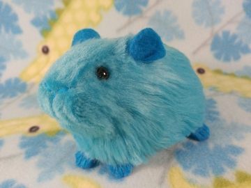 Little Turquoise Guinea Pig Plushie