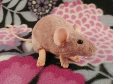 Pink Mouse Plushie