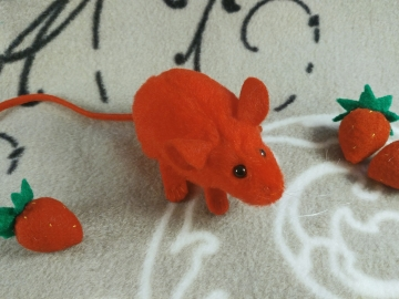 Red Mouse Plushie