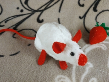 Red Siamese Mouse Plushie