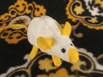 Yellow Siamese Mouse Plushie